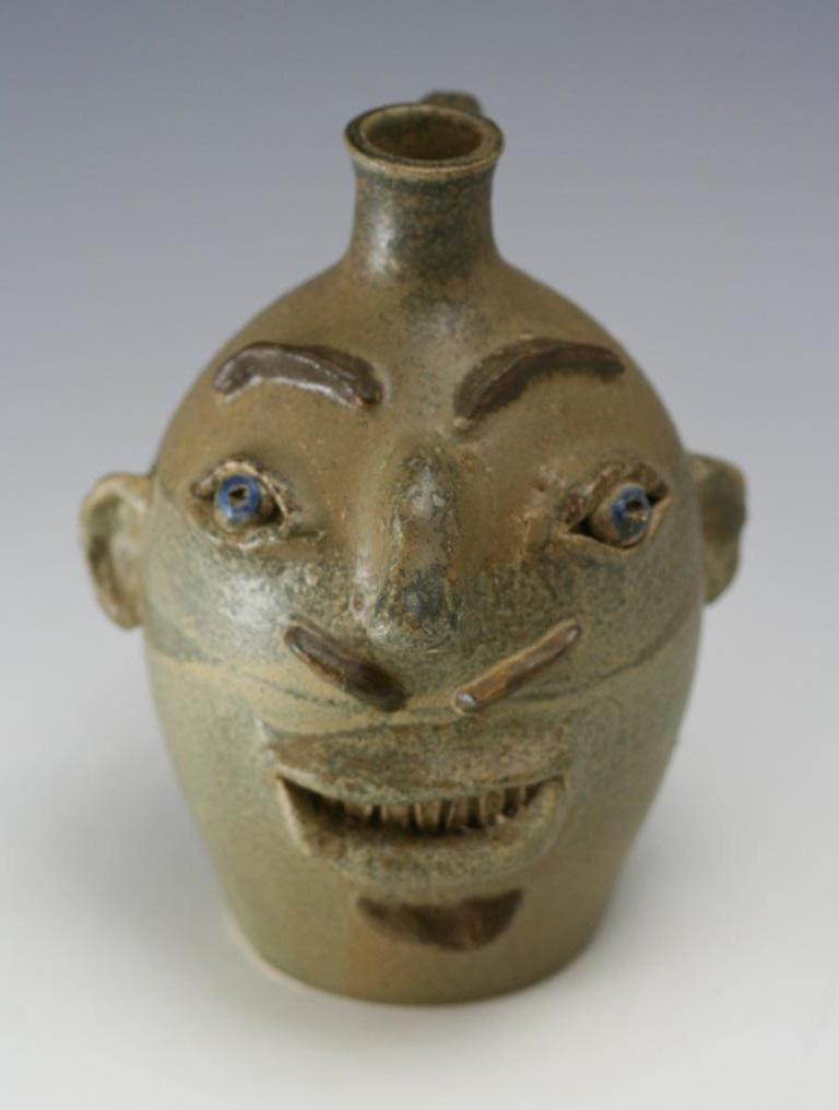 Rodney Leftwich Pottery Face Jug Nc Nc Pottery