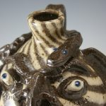 Steve Abee Swirl Snake Face Jug