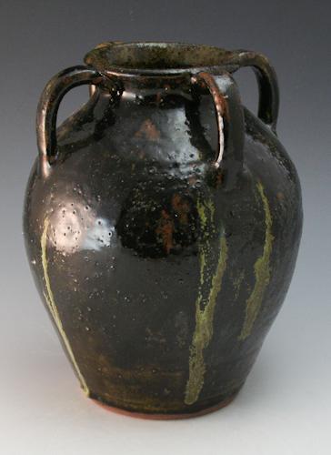 Walter Fleming Pottery Four-Handled Vase Catawba Valley North Carolina NC