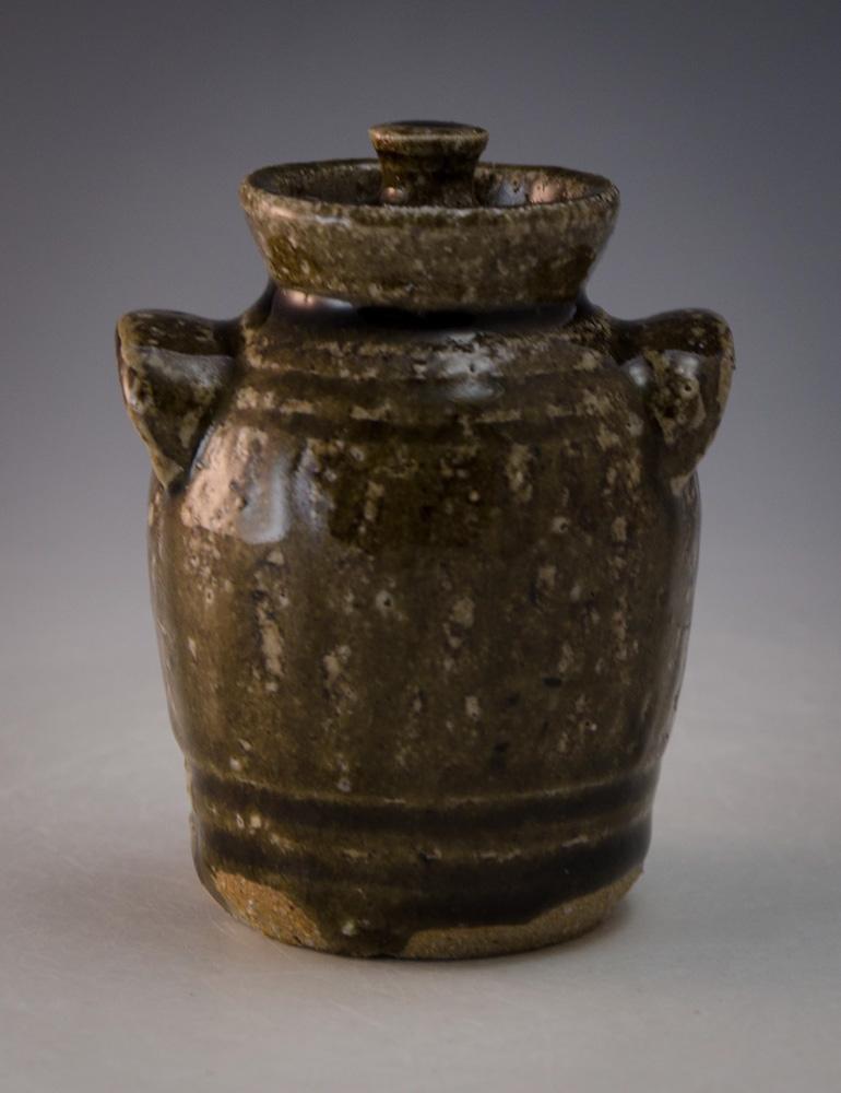 Charles Lisk Pottery Alkaline Lidded Mini Jar