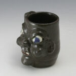 Grace Nell Hewell Face Mug GA Folk Pottery