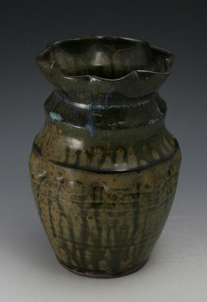 Matt Hallyburton Pottery Fluted Vase