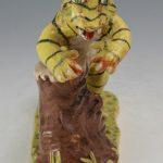 Stacy Lambert Tiger Tree Stump Figural