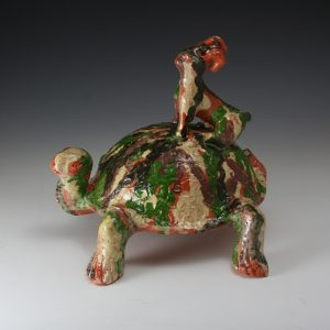 Billy Ray Hussey First Tortoise and Hare Figural