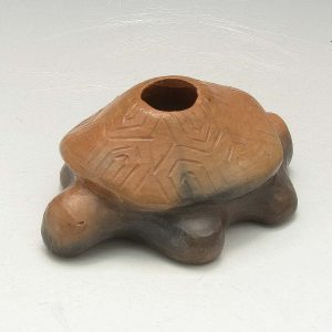 Warren Sanders Catawba Indian Master Potter Turtle Pipe