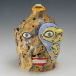 Stacy Lambert Painted Dont Throw Baby Out Face Jug
