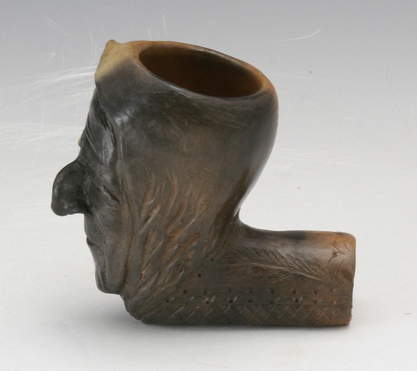 Caroleen Sanders Pottery Catawba Indian Head Pipe Nc Pottery